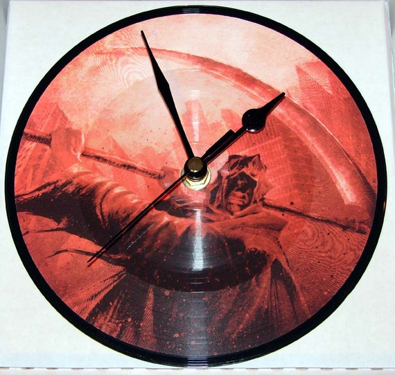 """CHILDREN OF BODOM Vinyl Record Clock. A recycled original 7"""" picture disc. Heavy Metal Clock"""