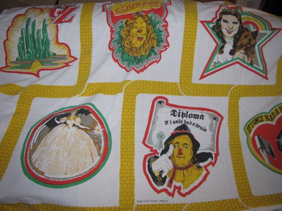 Vintage Wizard Of Oz Twin Bed Sheet Set