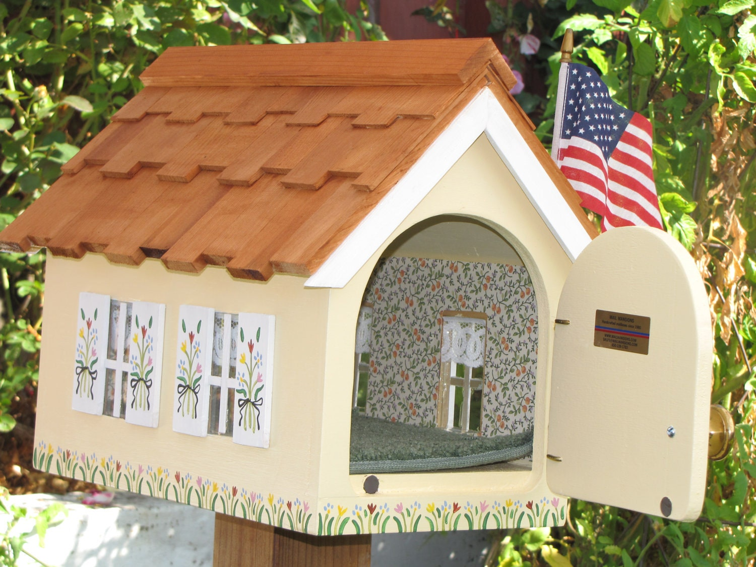 Cottage Mailbox By Mailmansions Yellow With White Trim