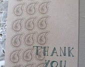 Paisley Thank You Note Cards