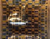 Glass ServingTray - Retro Chip & Dip