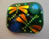 Dragonfly Dichroic Fused Glass Jewerly  Brooch / Pin / Pendant