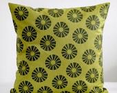 Linen pillows cover green - decorative covers - throw pillow - sham - Natural Linen - 20x20