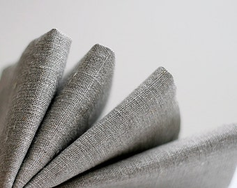 Linen napkins set set of 4 - natural linen cloth napkins - 12x12 inch size  0266