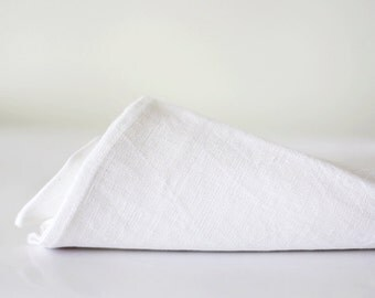 White linen tablecloth - luxury wedding tablecloth 57x57 inch size   0267