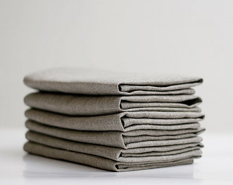 Linen napkin - Set of 6  18x18 inch size   0246