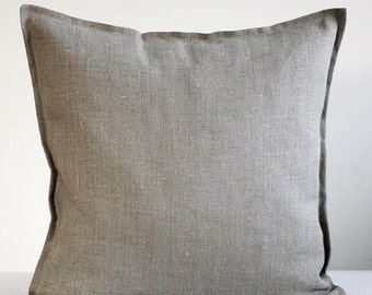 Linen pillow cover grey - decorative covers - throw pillows - shams 14x14/16x16/18x18/20x20/22x22  0282