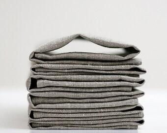 Linen napkin set of 6 Classic napkins set - wedding napkins - qdinner napkins - cloth napkins- hostess gift -  12x12 inch size  0254