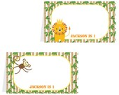 Jungle Birthday Party - Food Labels/Tented Placecards - PERSONALIZED - DIY printable pdf