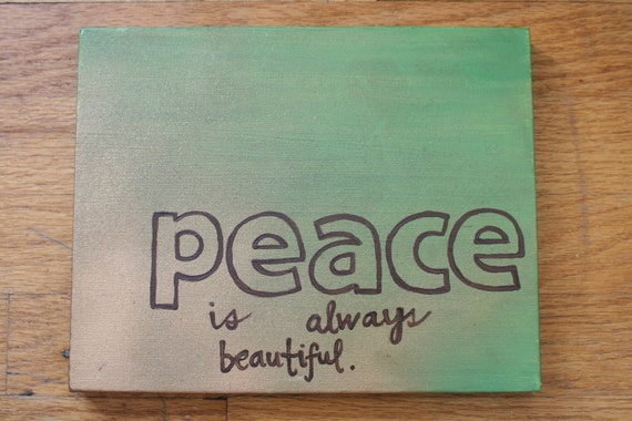 Wall Art Greenpeace : Items similar to canvas quote art wall decor painted