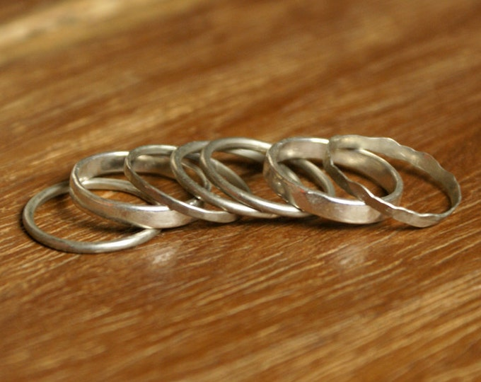 Stacker Rings in Sterling Silver
