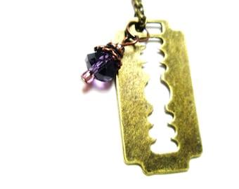 Fleur De Lys Necklace - Golden Razor   Necklace