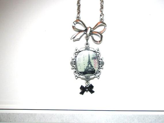 Paris Eiffel Tower  Necklace - paris bracelet