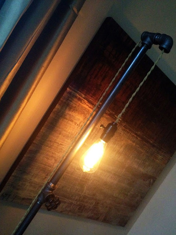 Edison Light Floor Lamp - Plumbing Pipe Lamp - Steampunk Furniture - Mod Lamp