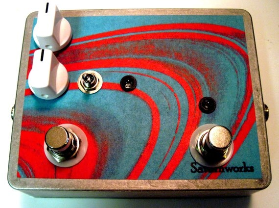 Saturnworks Guitar True Bypass Momentary Feedback Volume Looper Loop Pedal