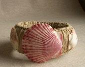 Macrame Bracelet , Shell Bracelet , Natural Bracelet , Handmade Bracelet , Shell