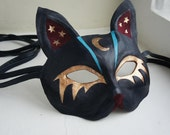 Gobbolino the Witches Cat - Leather Cat Mask