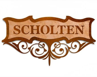 Personalized Copper Scroll Sign