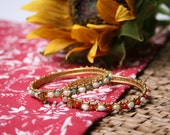 SALE Gold-toned Beaded Bangle Set