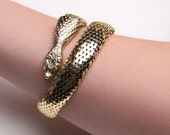 SALE Vintage Whiting and Davis Snake Arm Cuff/Bracelet