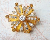 Here Come The Sun Rhinestone Pin