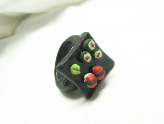 freakin' awesome sushi plate style ring