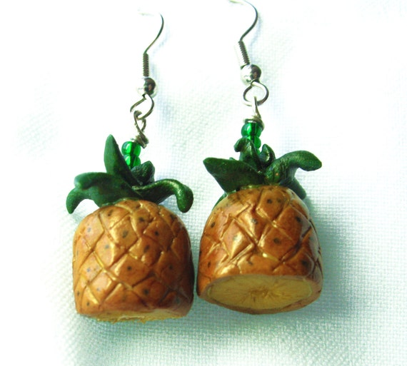 Awesome Tiny bottomless Pineapple Earrings