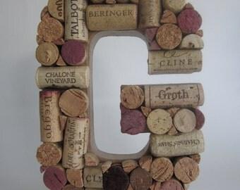 A Custom Wine Cork Letter