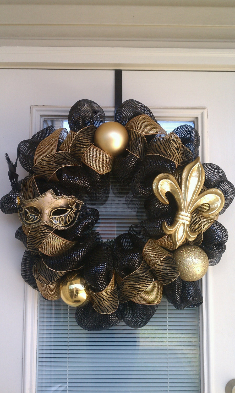 New Orleans Saints Wreath by SouthernWreathDesign on Etsy