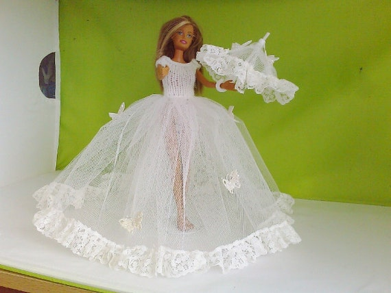 New Handmade  BARBIE DOLL CLOTHES  Ballgown designed and made by nannycheryl  764 x 59