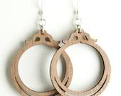 Small Walnut Earrings