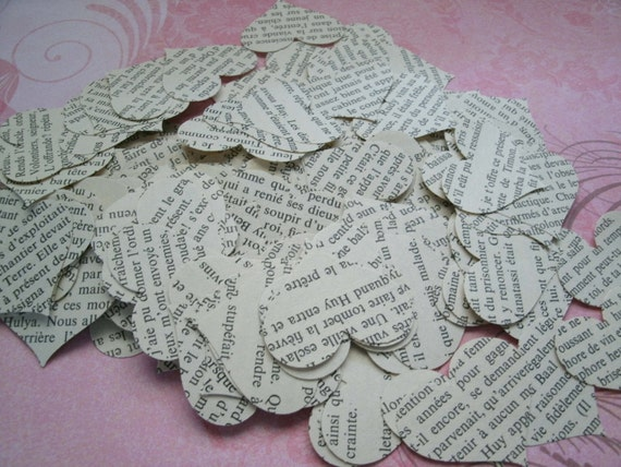 paper hearts wedding party decoration confetti french pages hearts 300 pieces heart punches