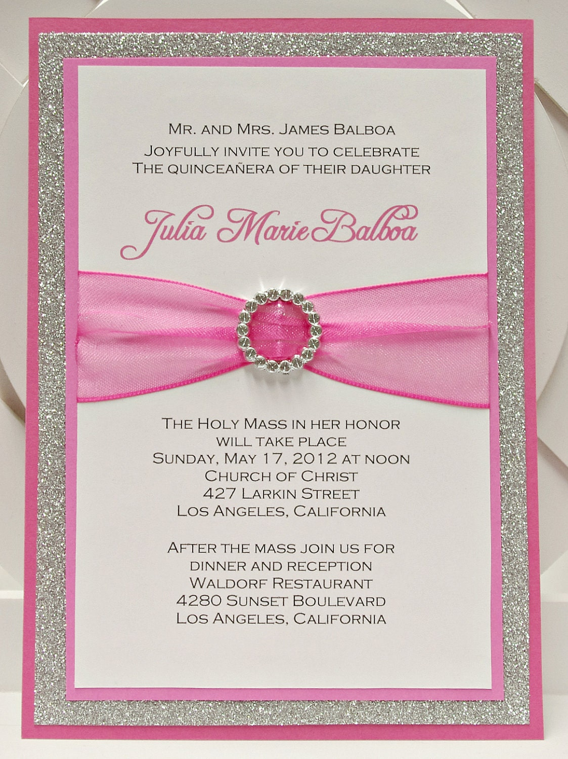 Scroll Quinceanera Invitations with amazing invitation template