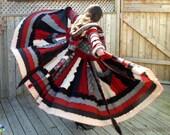 Snow White Cloak, Game of Thrones Dragon Wool Sweater Coat Merino Lambs wool Upcycled Bohemian Chic Black Red Grey Cream Dervish