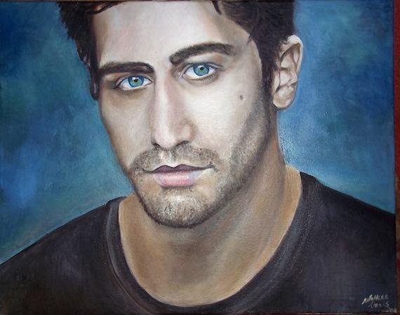 Jake Gyllenhaal portrait in oil paint SALE