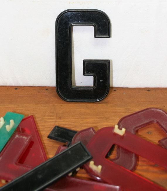Vintage Plastic Diner Sign Letters
