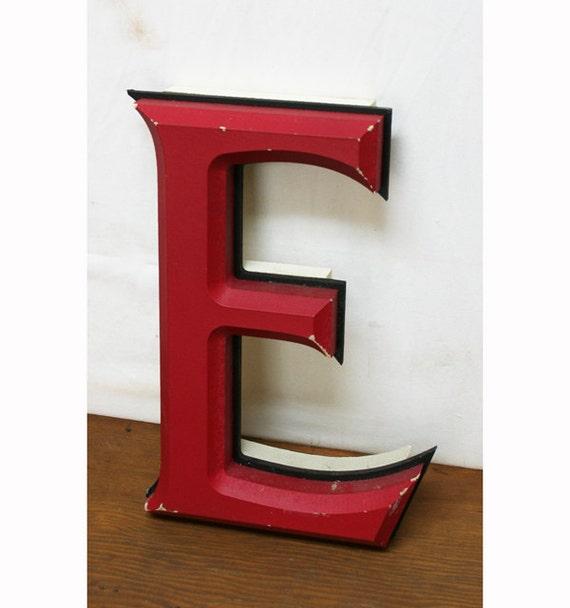 """Vintage Wooden Letter """"E"""""""