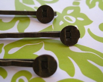 20 Bobby Pin / Hair Pin with 8mm Glue Pad/ Perfect for Resin Flowers & Cabochons