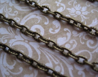 Antique Bronze Chain / 10 to 20 Feet Antique Bronze Open Link Chain / 4mm x 3mm / Lead Free