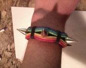 Spiked Rainbow Bracelet