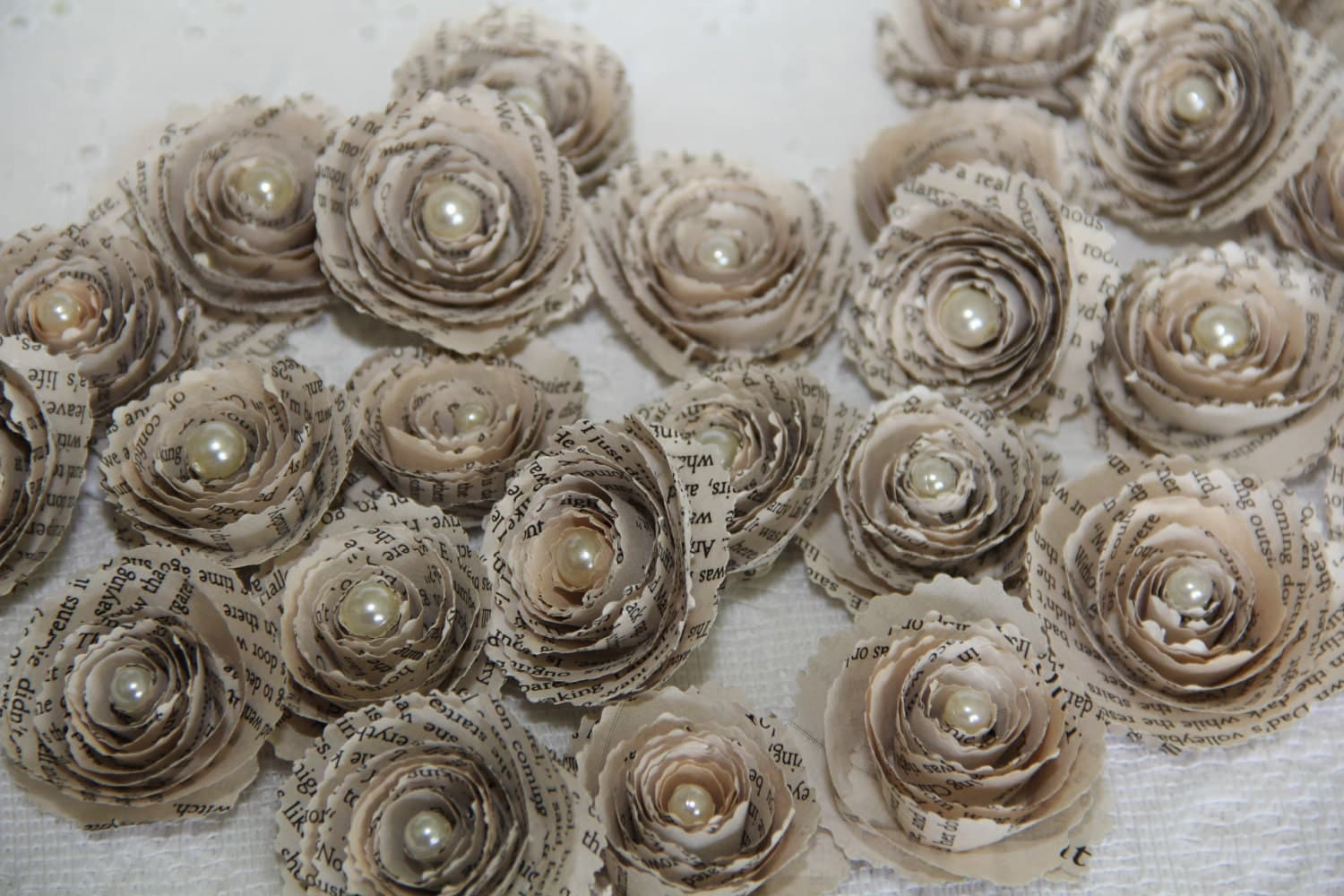 How To Make Paper Roses From Old Book Pages Vintage Book Page