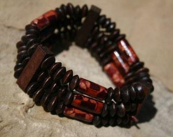 Floral Wood Bracelet