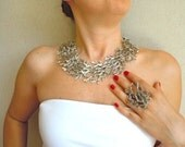 Ottoman Bough Metal Necklace And Ring Set-Fashion Jewelry-2012 Trends-Fashion All Season