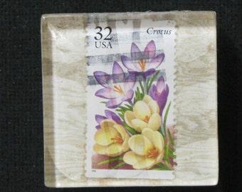 Hand Made Crocus Flower magnet