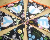 Bespoke Personalised Fabric Bunting - Girls Multi-Colour Floral