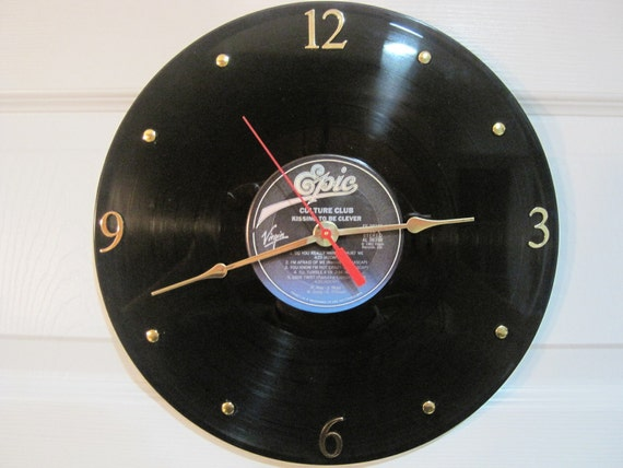 CULTURE CLUB Vinyl Record Clock - Upcycled, Boy George