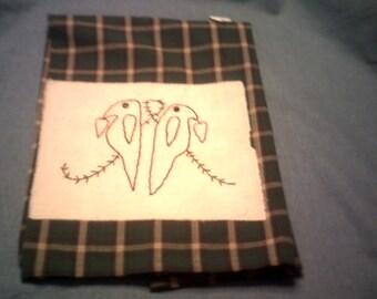 Primitive Embroidery Towel