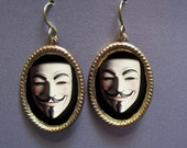 Occupy Earrings Guy Fawkes Mask