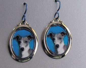 GREYHOUND Dog Love Earrings Custom Available