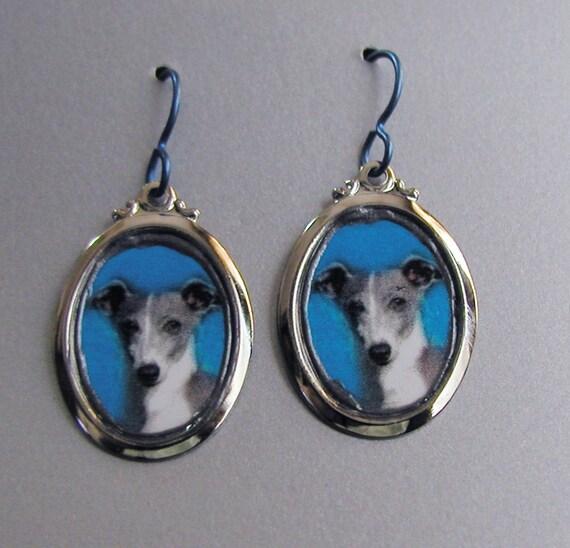 GREYHOUND Dog Love Earrings Custom Available